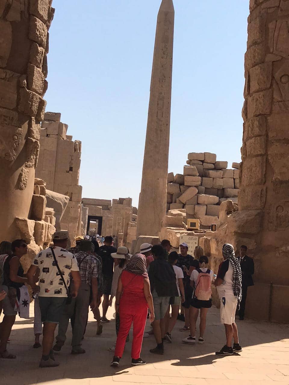 شاهد  توافد السياح  على المناطق الأثرية المصرية