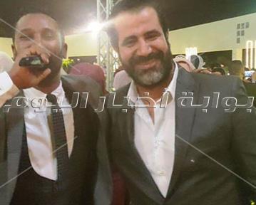 علي ربيع وأوس أوس ومحمد لطفي يحتفلون بزفاف ابنة سليمان عيد