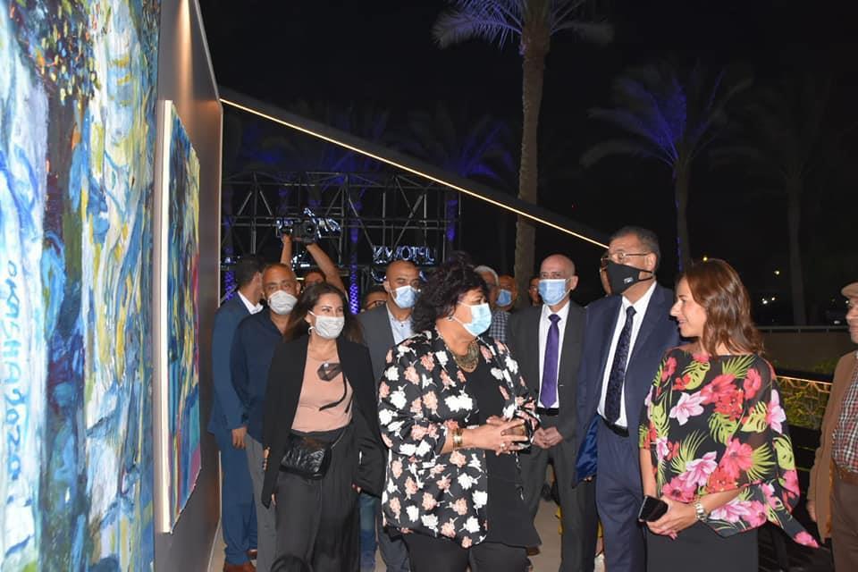وزيرة الثقافة تفتتح آرت تاون 2 بالمقطم