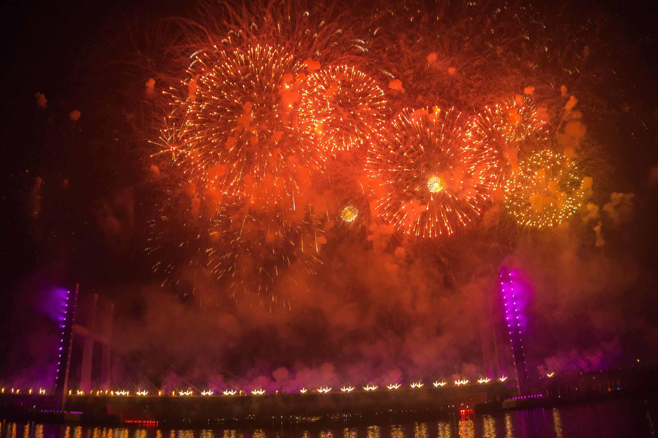 شاهد إحتفالات المصريين بأعياج رأس السنة الميلادية