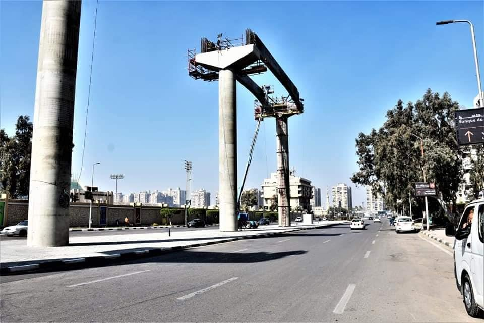 """""""النقل"""" تنشر صورا جديدة للمونوريل من مدينة نصر"""