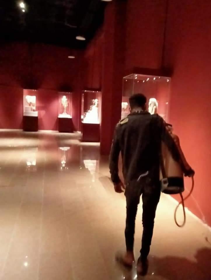استمرار أعمال تعقيم و تطهير المتاحف الأثرية