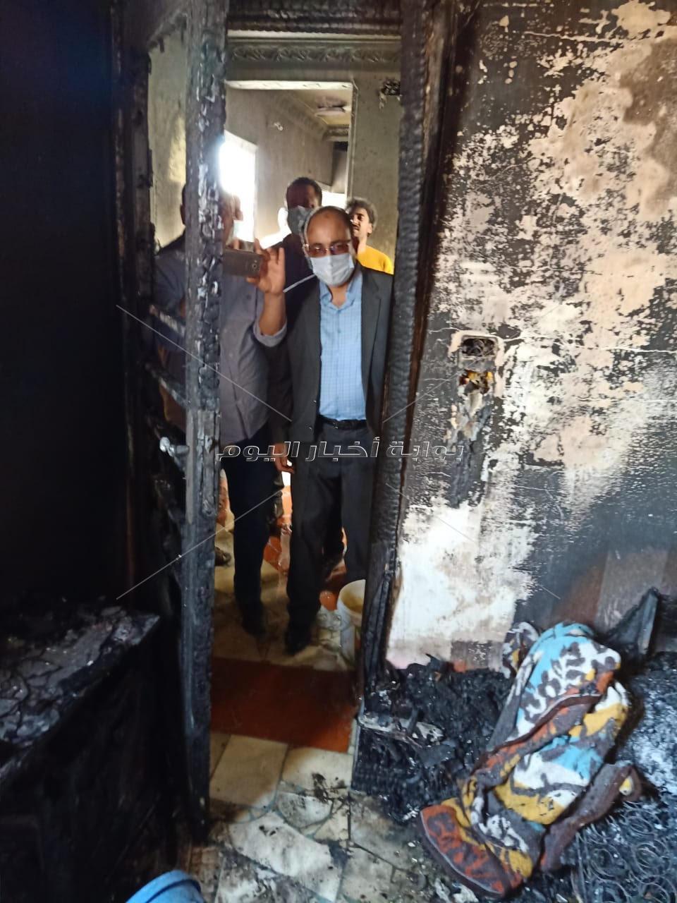 تفحم جثة رضيع إثر حريق  مروع داخل شقة بقرية بالدلنجات بالبحيرة