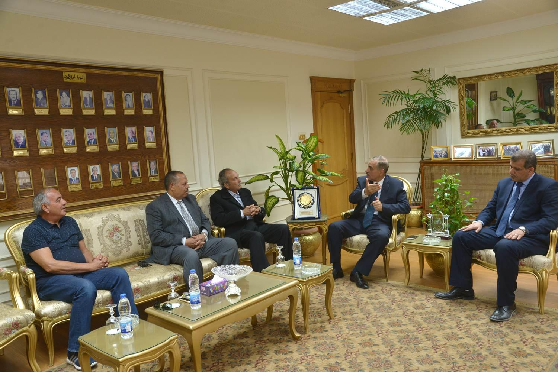 لقاء ودي بين ثلاث محافظين لمحافظة أسيوط
