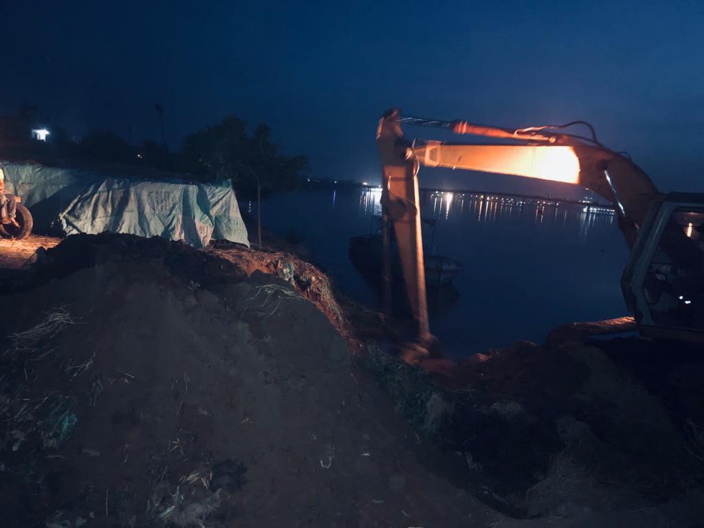 رصد ووأد إحدى المخالفات بالبر الغربى لنهر النيل