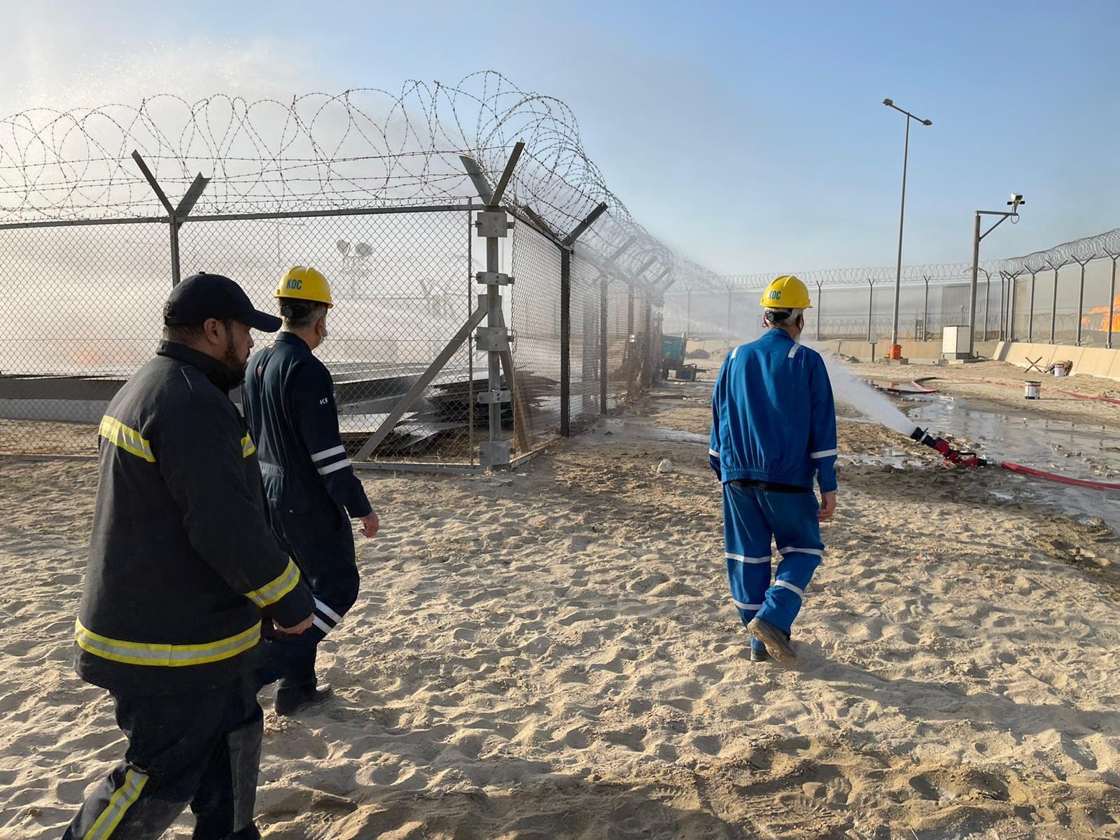 حريق في حقل نفط بالكويت