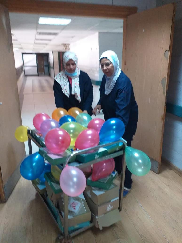 مستشفى كفر الزيات العام يحتفي بـ مصابي فيروس كورونا
