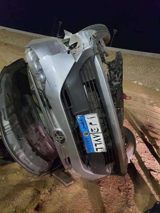 مصرع ضابط شاب في حادث على طريق السويس