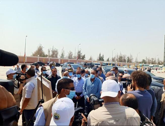 رئيس الوزراء يتفقد مشروع إنشاء صومعة ابو صوير بالإسماعيلية