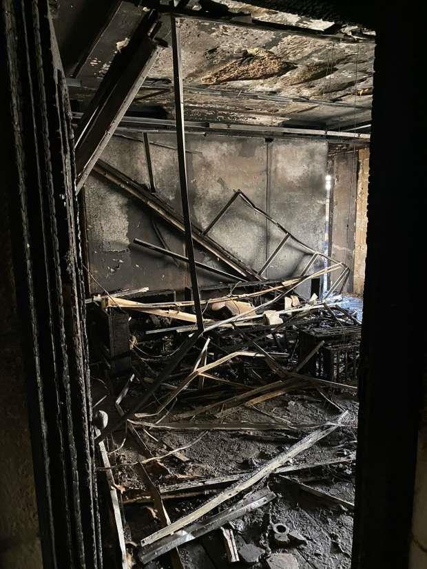 حريق هائل نشب في مقر شركة