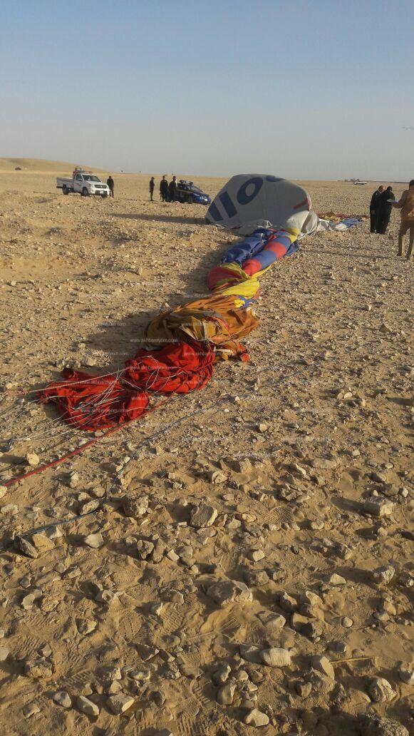 الصور الأولى لحادث سقوط بالون بالأقصر _ تصوير: محسن جود