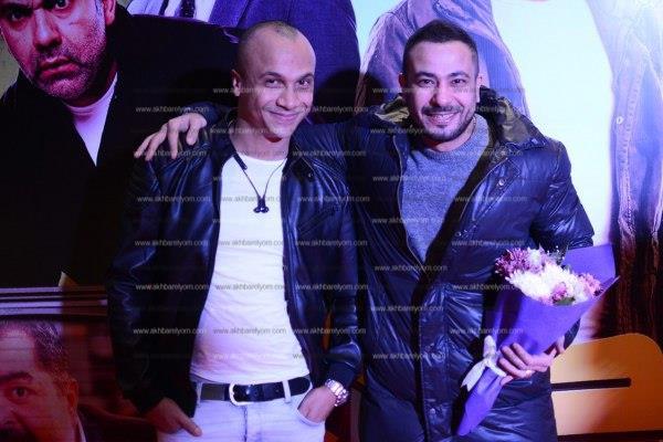 أحمد عيد وأيتن عامر يحتفلان بعرض فيلم «خلاويص»