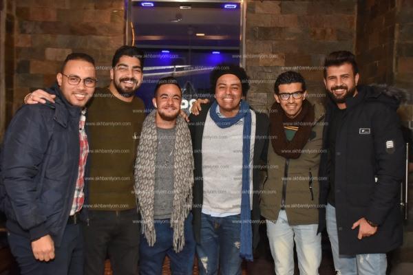 مصطفى حجاج ورنا سماحة يحتفلان بعيد ميلاد مينا عطا