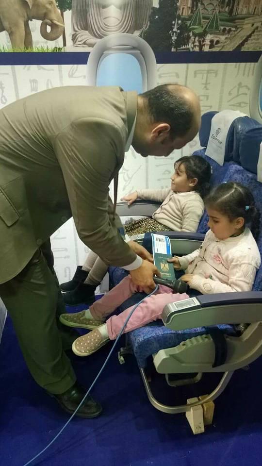 رحلة طيران خاصة على طريقة برايل للمكفوفين واصحاب الهمم على طائرة مصر للطيران .