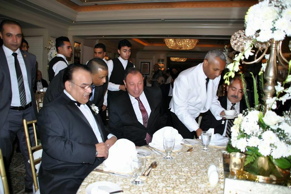 الخطيب والعامري فاروق في زفاف هاني عز الدين