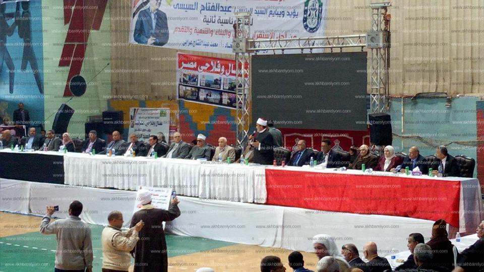 مؤتمر عمالى حاشد بالشرقية يجدد تاييده للرئيس السيسى