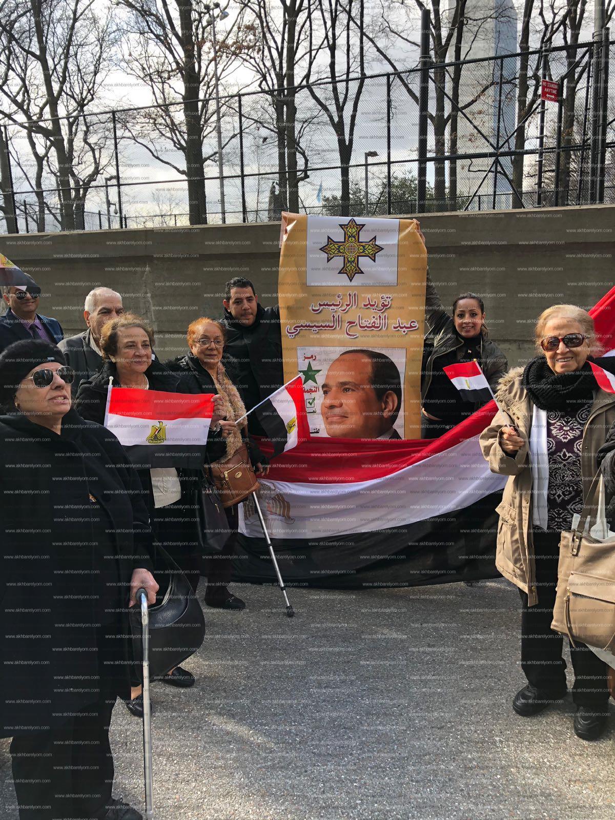 بالصور .. احتشاد الجاليه المصرية بنيويورك للإدلاء بأصواتهم
