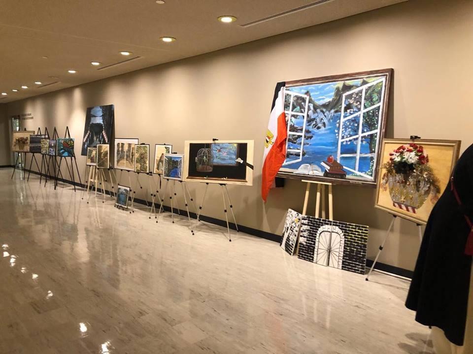بالصور.. مصر تشارك في معرض لوحات للمرأة بالأمم المتحدة