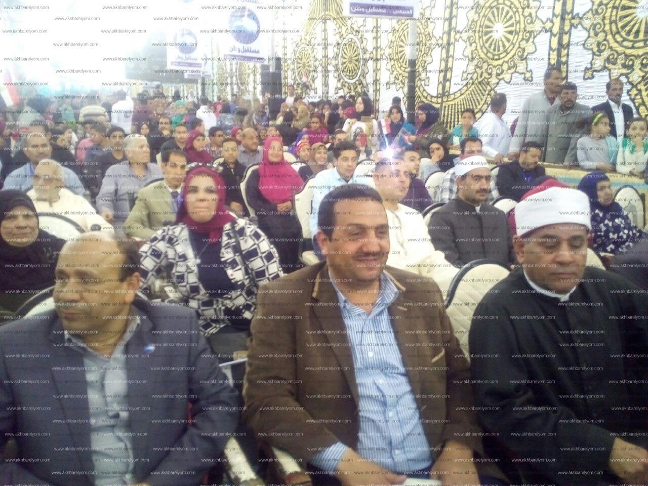 """مؤتمر حاشد لحزب """"مستقبل وطن"""" بمدينة الزقازيق لتأييد الرئيس السيسي"""