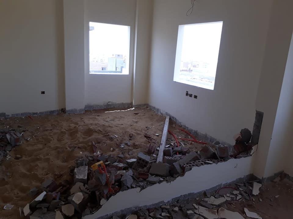 إزالة مخالفات البناء بعمارات حى النرجس بالتجمع الخامس
