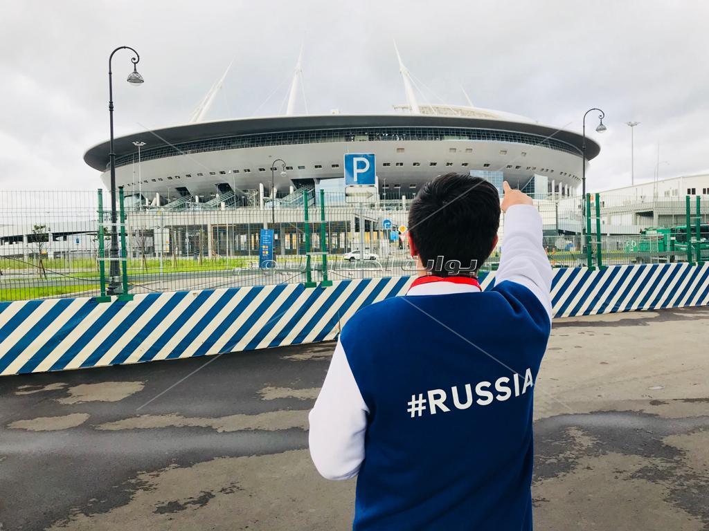 «سفنكس» شاهد على مباراة الفراعنة ضد أوروجواي في أغلى استاد في العالم