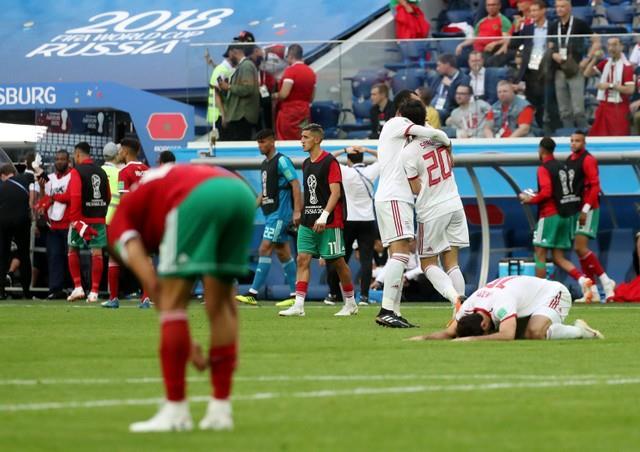 حسرة لاعبي المغرب بعد الخسارة من إيران