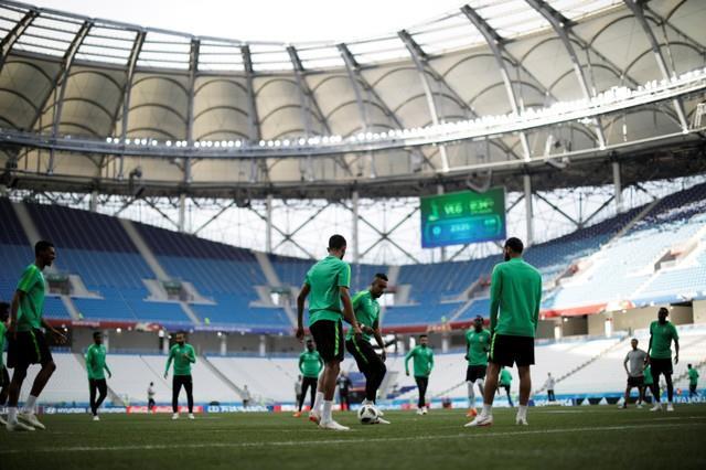 روسيا 2018| الأخضر السعودي يستعد «بقوة» لمواجهة الفراعنة