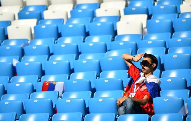 روسيا 2018   بالصور جماهير اوروجواي تتوافد على ملعب كوسموس
