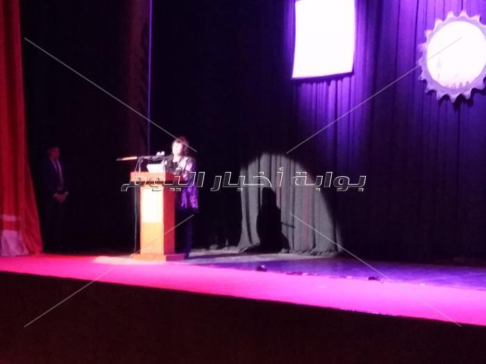 وزيرة الثقافة ومحافظ الغربيه يفتتحان مسرح طنطا