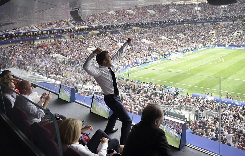 فرحة منتخب فرنسا بكأس العالم