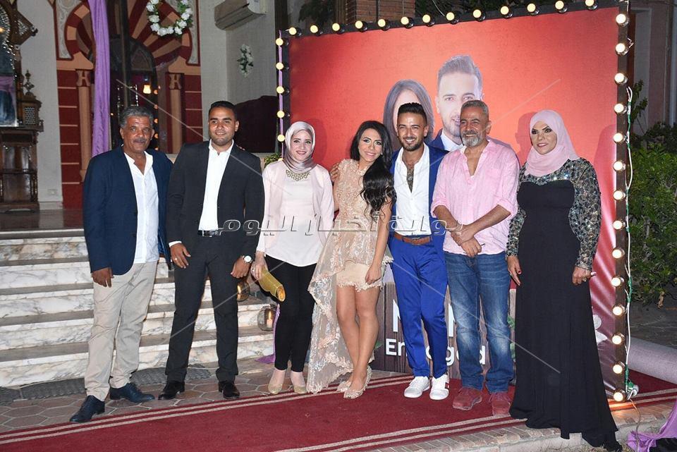 نجوم الفن يحتفلون بخطوبة الفنان محمد مهران