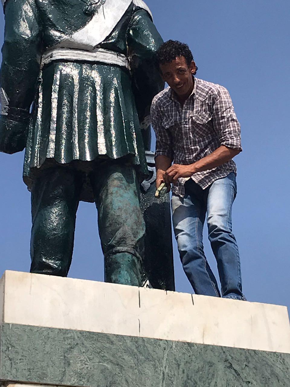 لجنة الثقافة تبدأ اعمالها لاعادة رونق تمثال الخديوى بالاسماعيلية