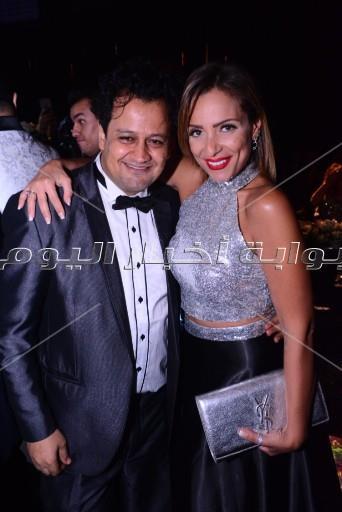 30 صورة ترصد فرحة مينا عطا وعروسته «لي لي» في حفل زفافهما