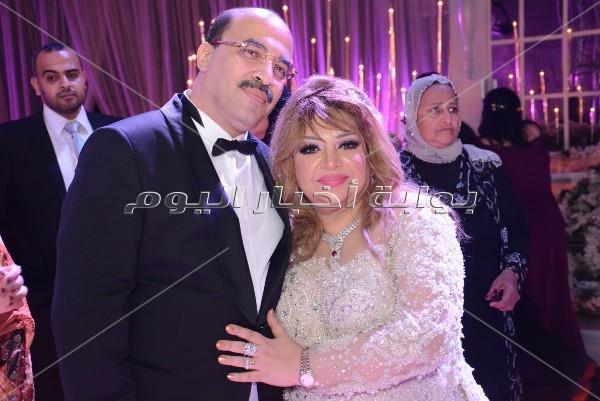 فتحي سرور والزند والعامري فاروق في وفاف «مهاب وميرنا»