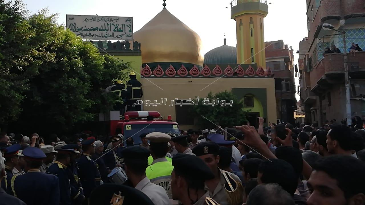 جنازة عسكرية مهيبة لشهيد القوات المسلحة فى سيناء بالغربية