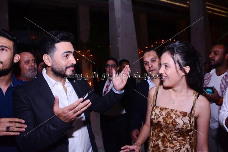 حفل زفاف ياسر الملاح ومنال الشلقاني بحضور نجوم المجتمع
