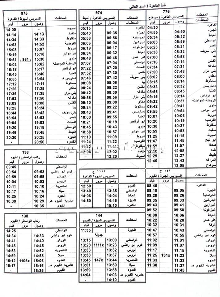 تعديل مواعيد 28 قطارا لخدمة طلاب مصر