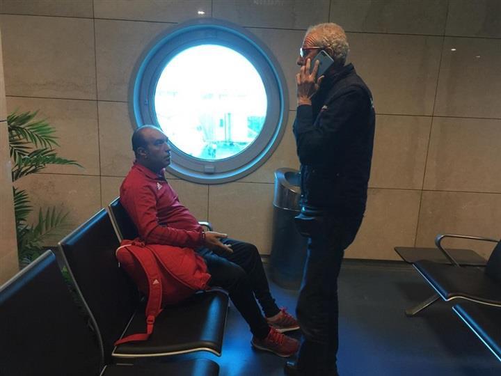 بعثة المنتخب الوطني تصل مطار القاهرة
