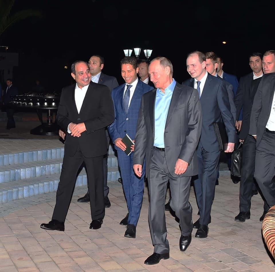 بوتين يستقبل الرئيس السيسي في سوتشي