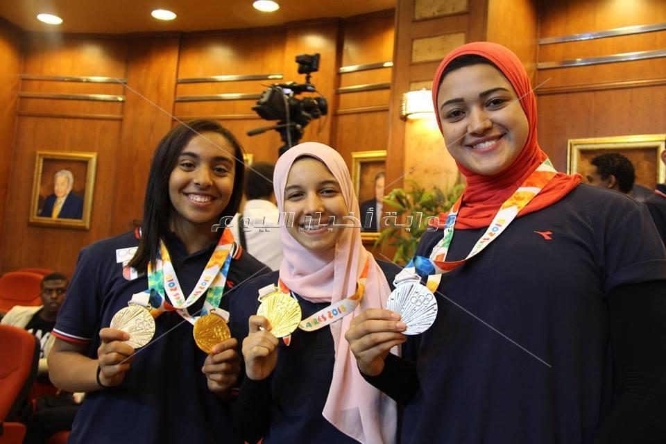 أبطال الأولمبياد في ضيافة بوابة أخبار اليوم1