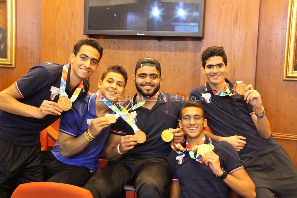 أبطال الأولمبياد في ضيافة بوابة أخبار اليوم