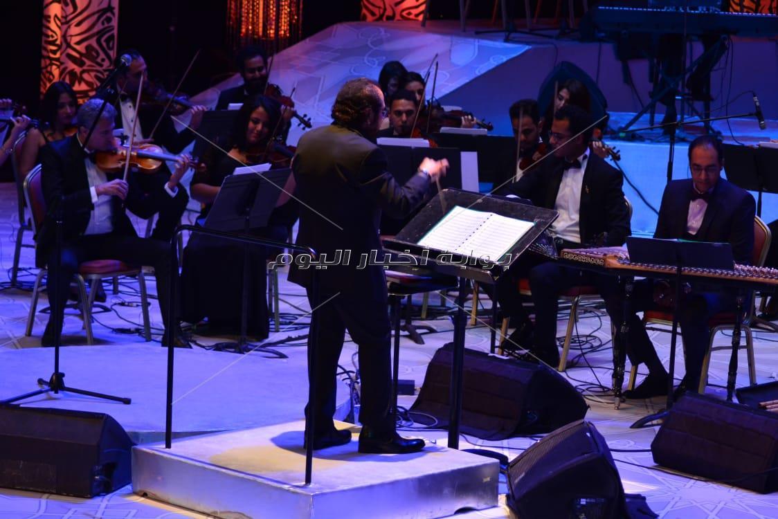 حفل علي الحجار بمهرجان الموسيقى العربية