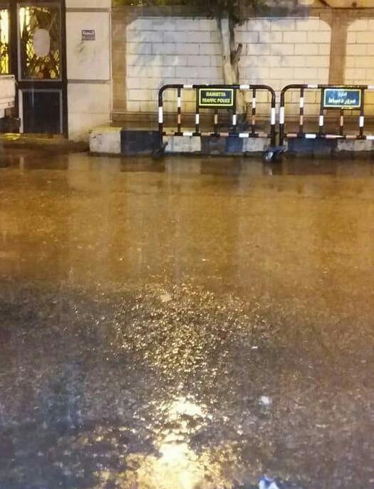 أمطار غزيرة في دمياط