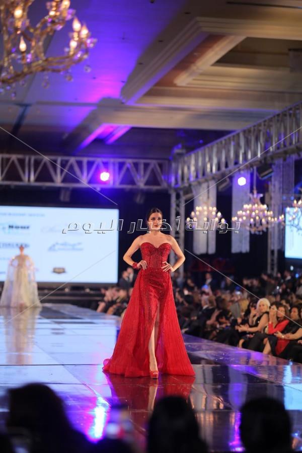نيكول سابا ترتدي فستان بـ200 مليون جنيه في «ديفليه البحيري»