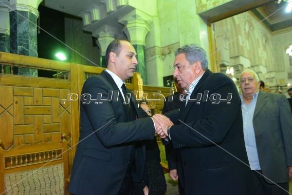 صبحي وصلاح عبد الله وبدير في عزاء «القلعاوي»