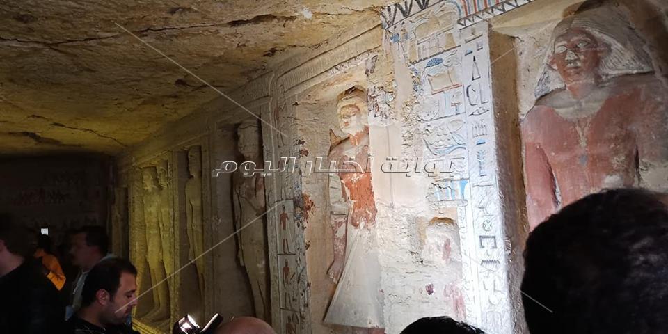 الصور الأولى لمقبرة كاهن التطهير الملكي بجبانة سقارة