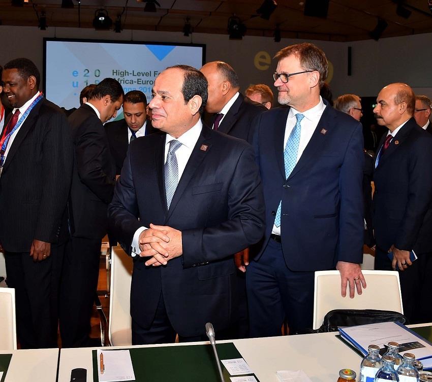 مشاركة الرئيس السيسي في اعمال منتدي أوروبا أفريقيا بفيينا