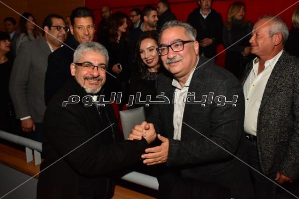 محمود طاهر وحلا وهنا شيحة وشيرين رضا في العرض الخاص لـ«الضيف»