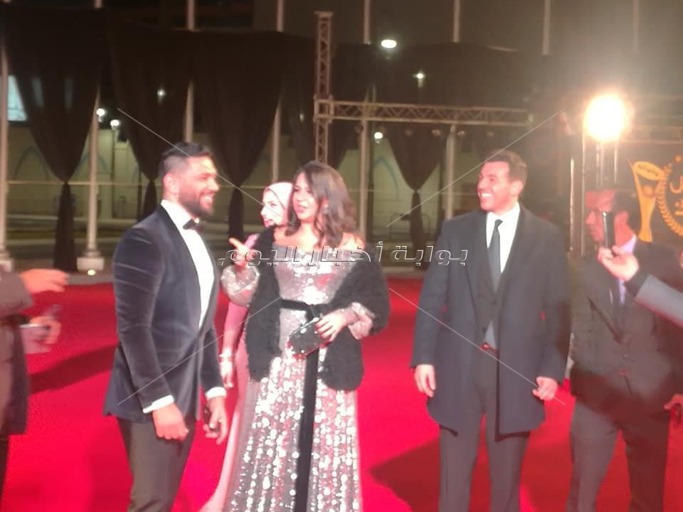 صور| الرداد وجيهان قمري ودينا فؤاد وايمي سلطان يشاركون بحفل «الأفضل 2018»