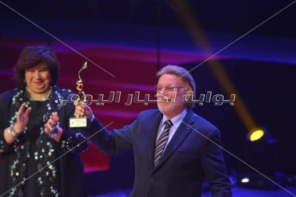 تكريم نجوم الفن بمهرجان المسرح العربي